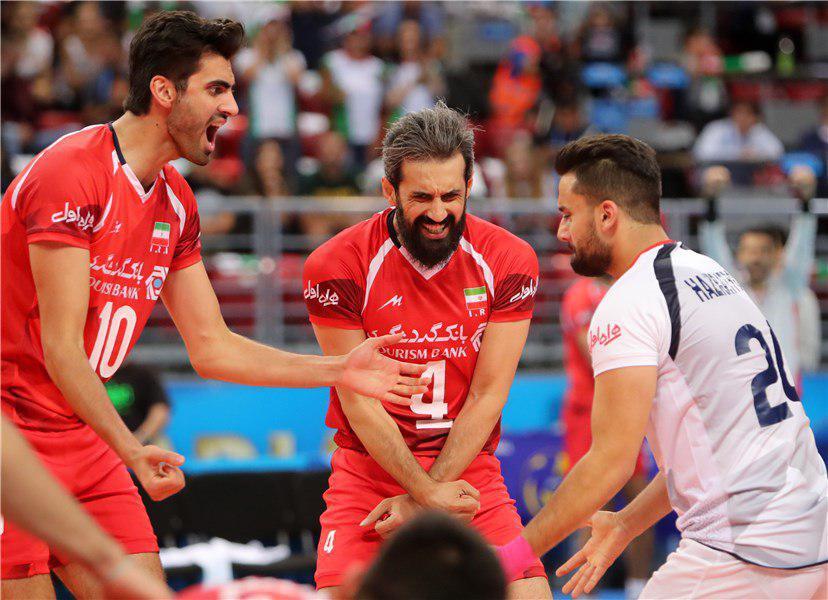 تیم ملی والیبال ایران در جایگاه پنجم ایستاد