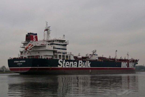 رفع توقیف نفتکش انگلیسی و آغاز حرکت از لنگرگاه