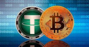 بیت کوین و تتر- ارز دیجیتال
