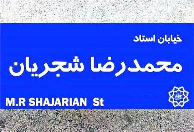 نامگذاری خیابانی در پایتخت به نام استاد شجریان