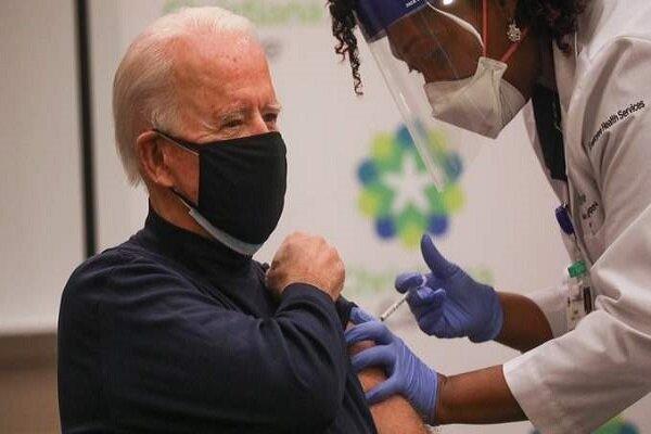 «جو بایدن» هم واکسن کرونا زد