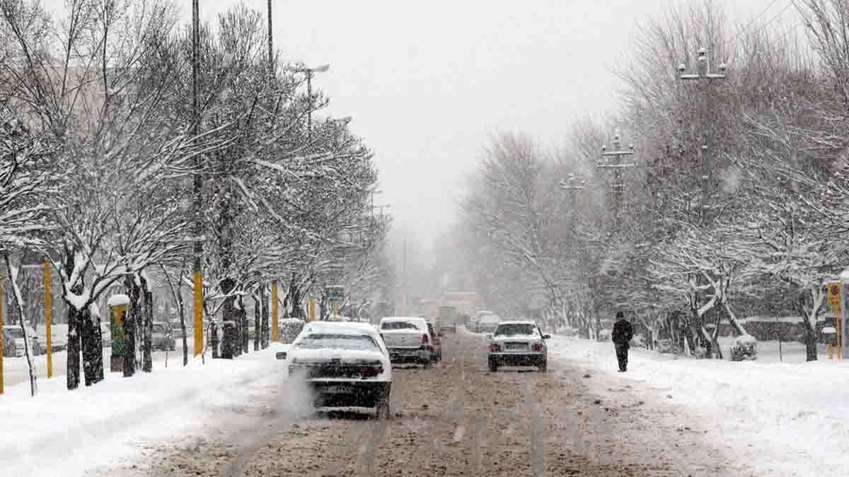بارش باران و برف در ایران