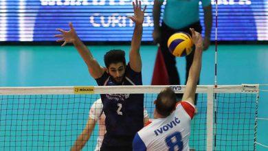 تیم ملی والیبال ایران مقابل صربستان